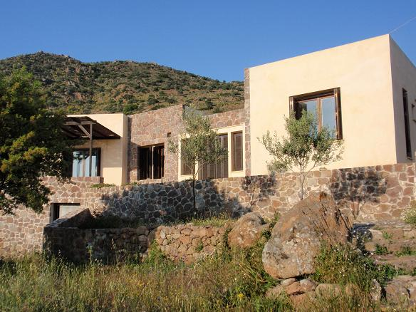 Aegina detached house in a protected village