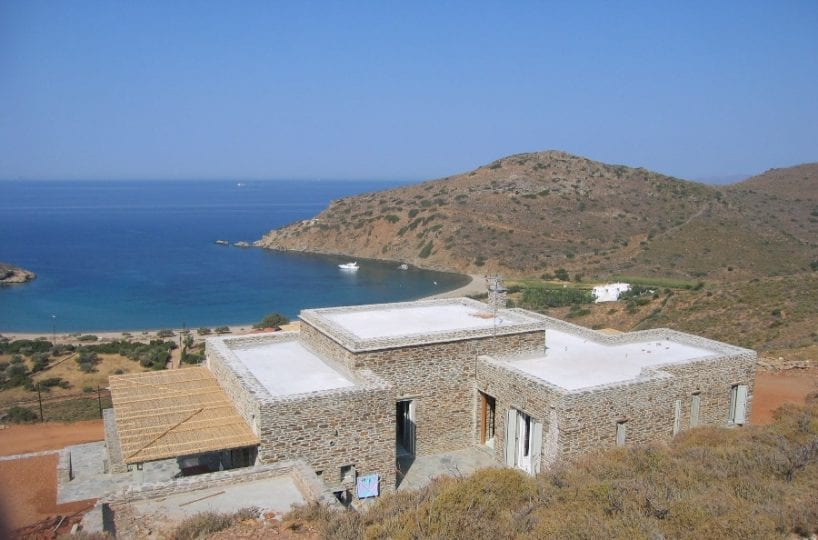 luxurious beachfront villa on Andros