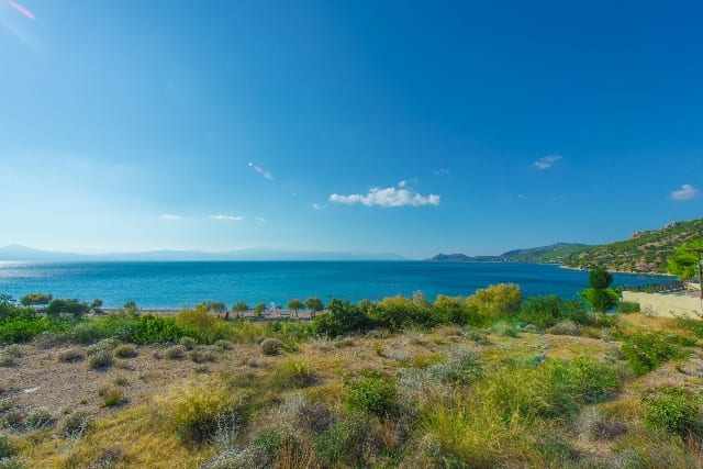 Corinth beachfront building land