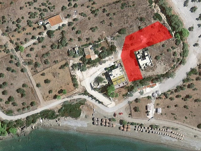 Corinth beachfront building land