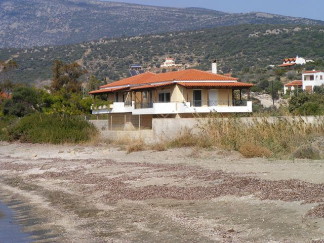 Evia beachfront villa for sale