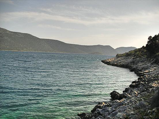 Evia seafront land