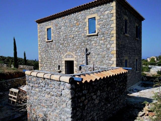 Kardamili new stone villa for sale