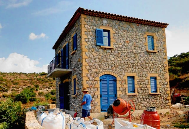 Kardamili new stone villa for sale