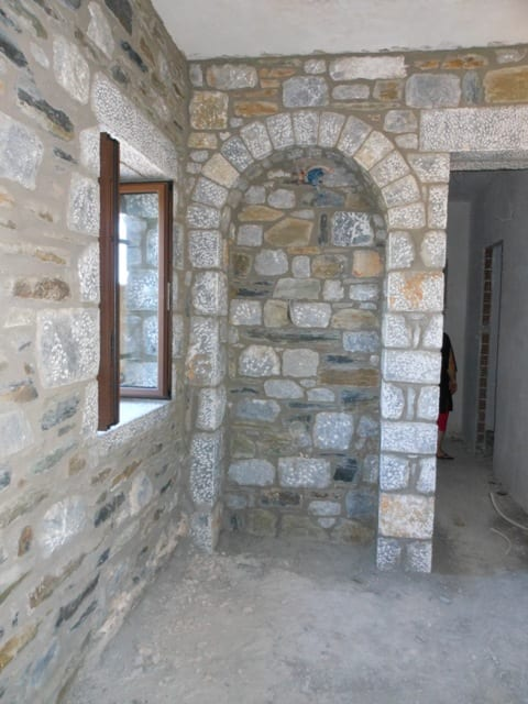 new stone Mani tower house