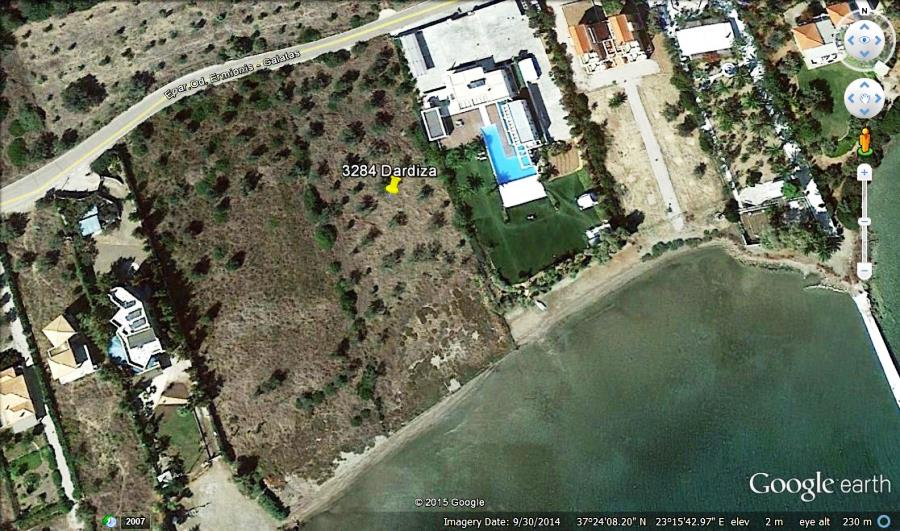 Ermioni beachfront building plot