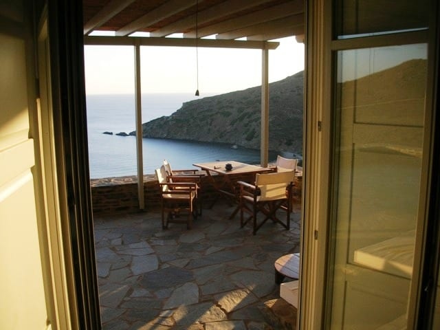 luxurious beachfront villa Andros