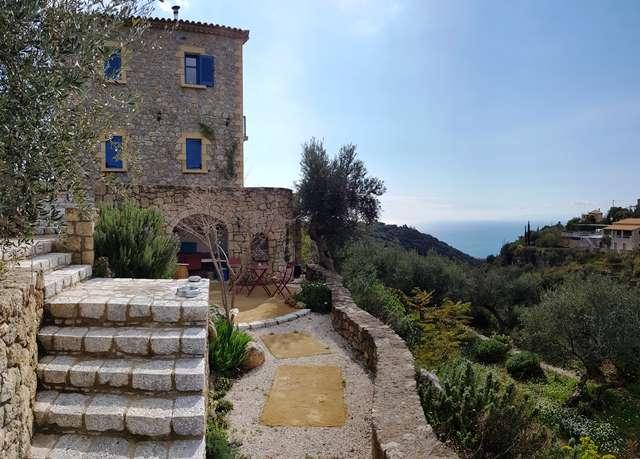 new stone villa