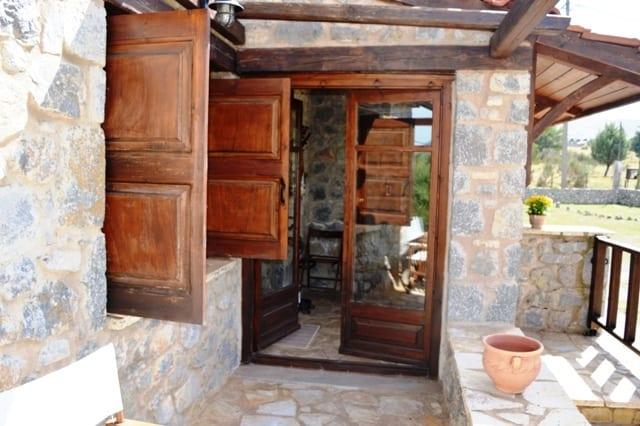 Arachova stone house near Parnassos