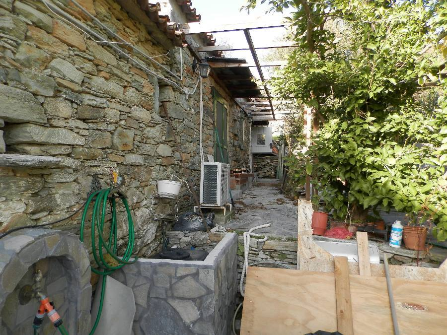 Evia renovated stone house