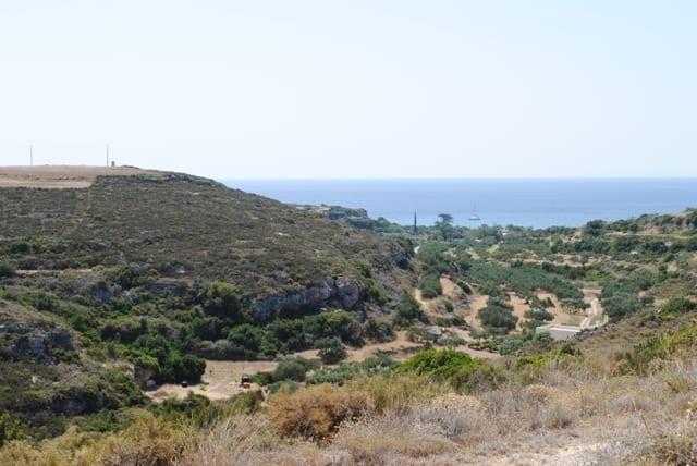 Kythira building plot near sea