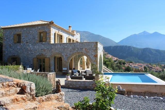 luxury villa for sale in Messinian Mani