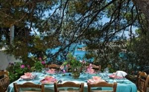 Poros beachfront villa with private jetty