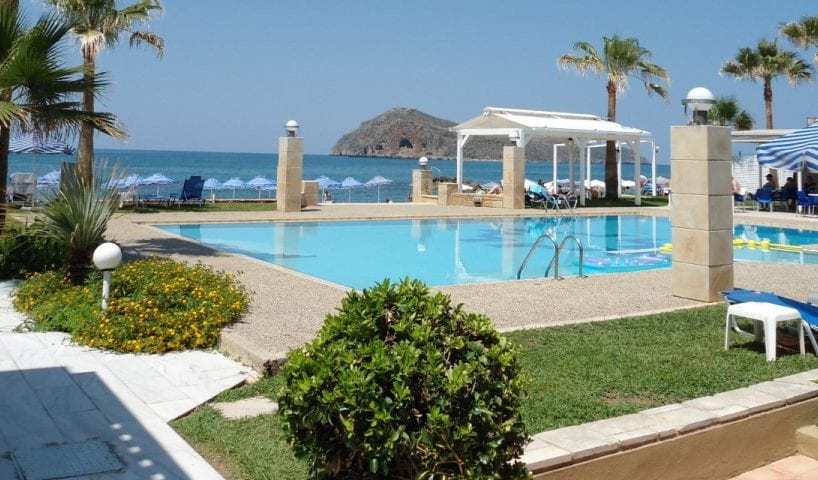 Seafront hotel for sale in Chania Crete