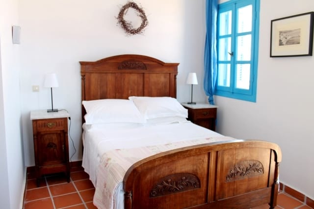 A Koroni holiday apartment complex, once a traditional Venetian style mansion house, which has been renovated in keeping with the style of the local Venetian architecture.